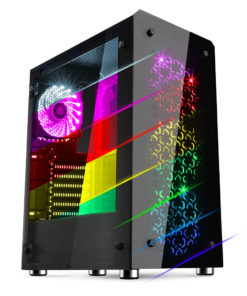 Boitier Sog rouge IV RGB tempered glass